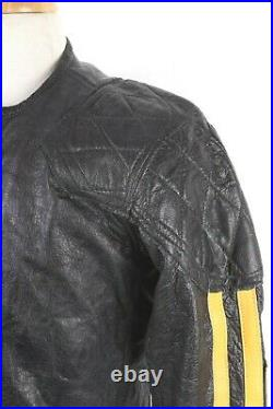 VTG 60s LANGLITZ Leather Racing Jacket Pants Breeches Suit USA Mens Size 36-38