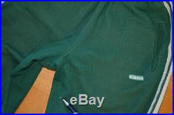 VTG ADIDAS TRACK SUIT TOP JACKET PANT Made in Yugoslavia GREEN 60s 70s size S M