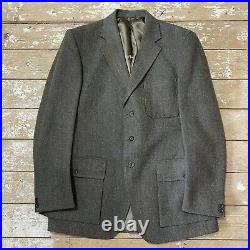 VTG Hebden Cord Tweed Shooting Suit 2 X Trousers 42/43L 38 Country Bespoke