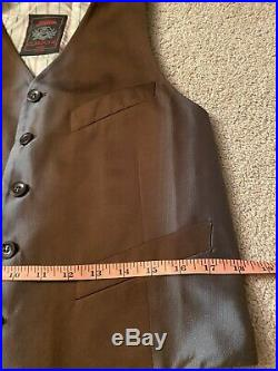 VTG Jean paul gaultier Italy Holographic 32 pant & vest suit Prom Wedding RARE