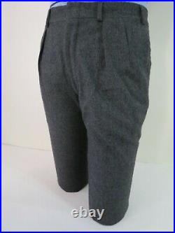 VTG Polo Ralph Lauren charcoal gray two button flannel winter weight suit 40 R