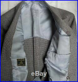 VTG SOUTHWICK Fully Canvassed Double Brested 2 PC Suit SZ 38R Multicolor