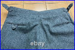 VTG Saville Row Union Made Famous Barr Gray Tweed Wool Sz 42R 3 pc Suit 34 x 31