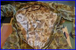 VTG WWII US ARMY HBT Frogskin Camo Coveralls Suit USA Mens Size 38 Long