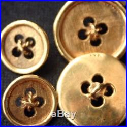Vintage 14K Gold Mens Suit Buttons Set