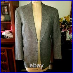 Vintage 1950's Grey Flannel Hollywood Suit RARE MENS SIZE 34
