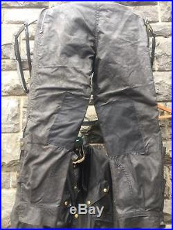 Vintage 1950s Barbour Suit Motorcycle Waxed Jacket & Trousers SUPERB