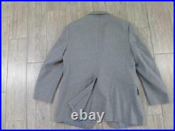 Vintage 3Pc Suit FLANNEL Thick Wool 40S 34x30 Gray STANLEY BLACKER