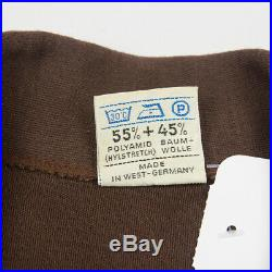 Vintage 60s Adidas pocket tracktop jacket suit M BROWN made in West Germany