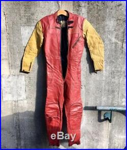 Vintage 70's Lewis Leathers Aviakit Racing Leathers Motorcycle Racing Suit 40