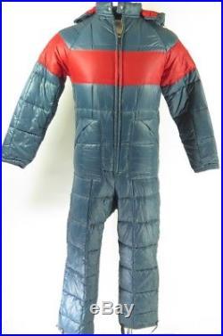 Vintage 70s Quilted Puffy Ski Suit Mens 38 Deadstock Sears Jumpsuit