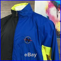 Vintage 90s Nautica Competition Color Block Spell Out Track Suit Windbreaker XL