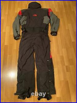 Vintage 90s The North Fave Steep Tech Snow Suit Mens Large L Black And Red