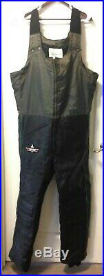 Vintage Arcticwear Arctic Cat Leather Snow Suit Pants Bibs Jacket Men's XL