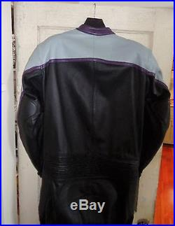 Vintage BATES Leathers Mens One Piece Cafe Racer Motorcycle Suit Large/Tall