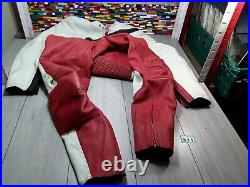 Vintage Biking Leather Suit racing Motorbike FCM HIGH QUALITY good condition