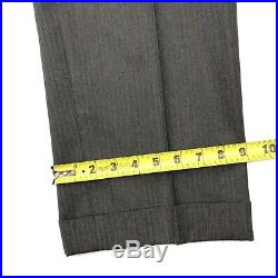 Vintage Brooks Brothers 3/2 Roll Suit Gray Pinstripe Wool 42 R 36 x 32