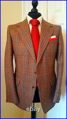 Vintage CROMBIE Tweed Check Suit Tailored from Pure New Wool