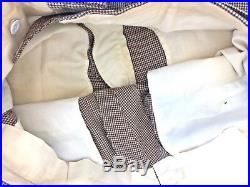Vintage Chester Barrie Brown Houndstooth Suit 38 in Chest Dogtooth Pure New Wool