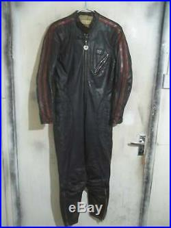 Vintage Distressed 60's Aviakit Lewis Leathers Motorcycle Racing Suit size 38