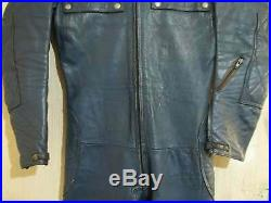 Vintage Distressed 70's Aviakit Lewis Leathers Motorcycle Racing Suit Size 38
