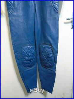 Vintage Distressed 70's Aviakit Lewis Leathers Motorcycle Racing Suit Size 40