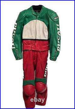 Vintage Ducati Leather Motorcycle Suit Small 40