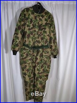 Vintage Expedition Eddie Bauer Goose Down Camo Coveralls Suit XL. Nice