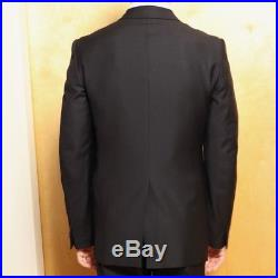 Vintage Helmut Lang mens tailored black wool single-breasted suit size 48