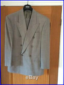 Vintage Hugo Boss Double Breasted Men's Suit Worn twice & dry cleaned was £595