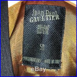 Vintage Jean Paul Gaultier Double Breasted Suit, Black. Size 50 (IT) 44 chest
