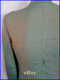 Vintage Late 60's/ Early 70's Pale Green Fleck DB Sharkskin Suit Size M Mod