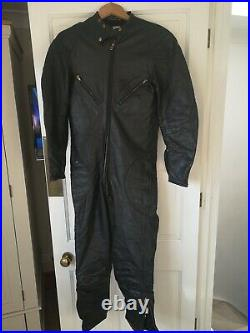 Vintage Lewis Leathers Aviakit Racing Leathers Motorcycle Racing Suit 50s/60s