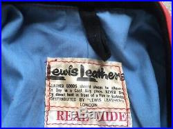 Vintage Lewis Leathers Aviakit Racing Leathers Motorcycle Racing Suit Size 38
