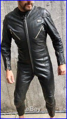 Vintage Lewis Leathers Aviakit Racing Leathers Motorcycle Racing Suit Size 42