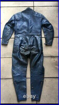 Vintage Lewis Leathers Aviakit Racing Leathers Motorcycle Racing Suit Size 44