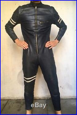 Vintage Lewis Leathers Aviakit Racing Leathers Motorcycle Racing Suit Size 8-10