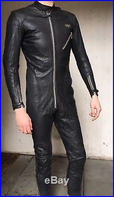 Vintage Lewis Leathers Aviakit Racing Leathers Motorcycle Suit