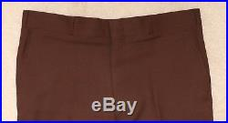 Vintage Mens 44L Sears Classic Collection 2 Piece Brown Wool Suit w Gold Buttons