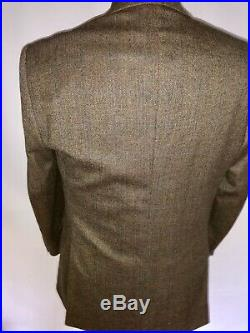 Vintage Mens Check Tweed 3 Three Piece Suit Jacket & Trousers Waistcoat 38S 34w