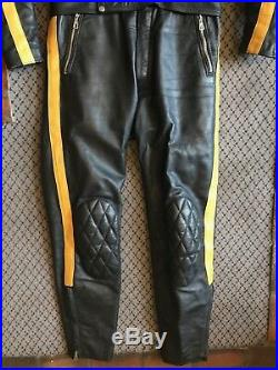 Vintage Motorcycle Leathers /Suit Cafe Racing Suit. MINT Lewis Leathers, Aviakit