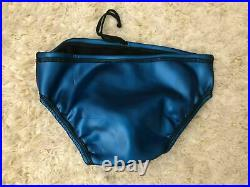 Vintage Neoprene rubber shiny glanz water polo suit swimsuit speedo brief 32 med