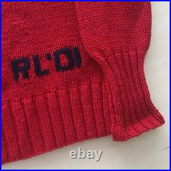 Vintage Polo Bear Ralph Lauren Suit Red Sweater Size Small Tri-Blend Golf 2001