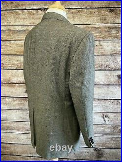 Vintage Polo Ralph Lauren Wool Gray Plaid Suit 44R (37x29) Made in USA