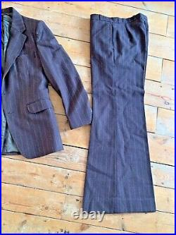 Vintage. Retro 70s. Mens Hardy Amies Flared Trendy Cool Suit Size M