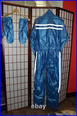 Vintage Rukka motorcycle Rain suit with Gloves size 50 (Never Used). ALY