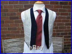 Vintage WW2 / Demob Style Double Breasted Three Piece Suit Chest 36 waist 32