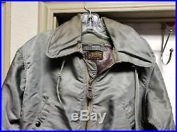 Vintage military Flight Suit Size M Sage Green Flying Coverall Mens Grunge