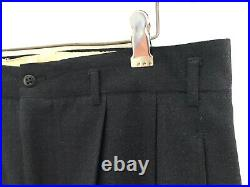 Vtg 1940s Double-Breasted Wool 2pc Suit 38 R jacket Pants 40s drop loops TALON