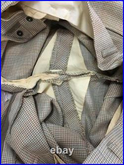 Vtg 40s 50s Houndstooth Wool 2 Button Suit Mens M-L Rockabilly Drop Loop 31-30